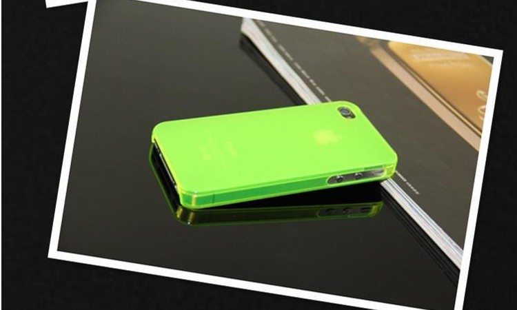 0.5mm ultrathin Matte shell water cube cell phone case for iphone 4 4s with retail package