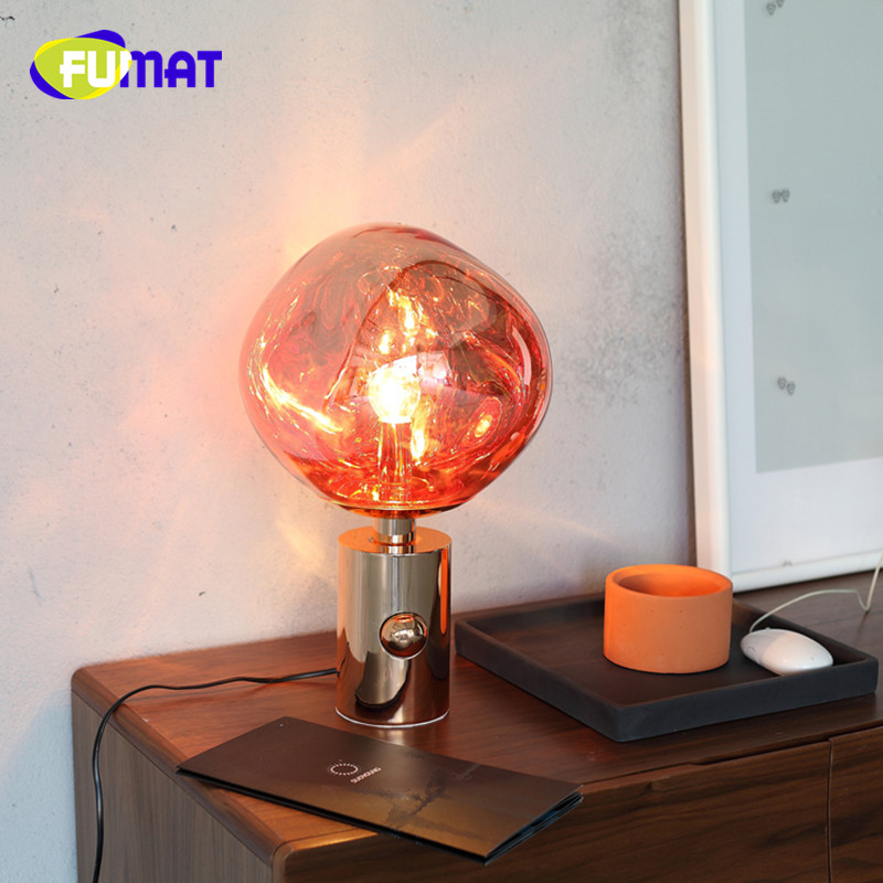 Lava Lamp Modern Fashion Living Room Table Lamp Bedroom Bedside Lamp Plated Metal Lava Table Lamp