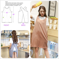 BBYBBS Japan Style Soft Cotton Linen Apron Solid Color Halter Cross Bandage Aprons Kitchen Cooking Clothes