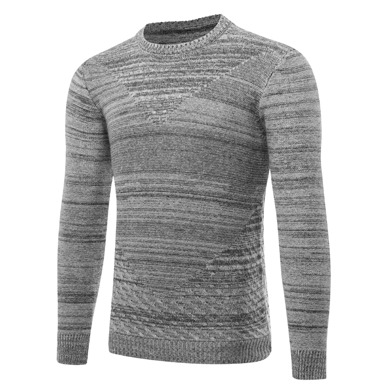 Mens keep warm casual Sweater New winter Metrosexual men pullovers O-neck striped sweater criss-cross decorate Asia size S-XXL