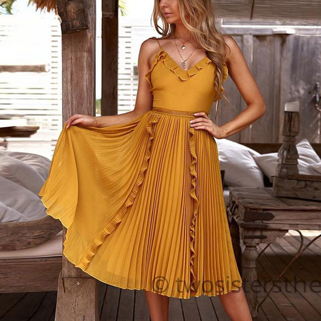 Sling Backless Elegant Dresses