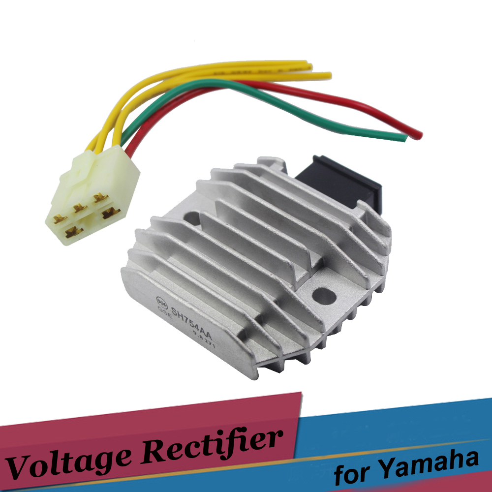 Motorcycle 12v Voltage Regulator Rectifier For Yamaha R1 R6 Majesty YP400 RAPTOR 700 YFM70 TDM850 V-STAR XVS400 DS400 WR250R black voltage regulator rectifier for hyosung gt650r gt650 comet gv650 gt650s st7 gt 250r gt250 gv 700
