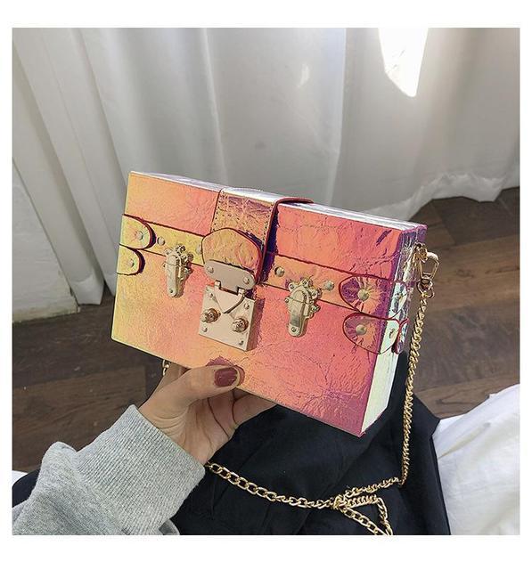 Laser Box Bag Women Handbag...