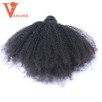 4B4C Mongolian Afro Kinky Curly Hair Weave 100 Natural Human Hair Bundles 1 Piece Virgin Extensions