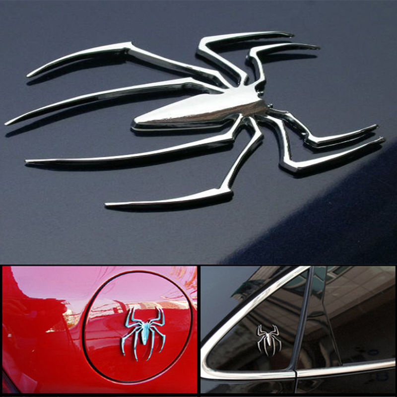 2017 3d Car Stickers Hot Universal Metal Spider Shape