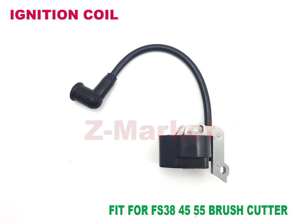 ignition coil for stihl fs38 fs45 fs55 brush cutter grass trimmer lawn mower tiller gasoline. Black Bedroom Furniture Sets. Home Design Ideas