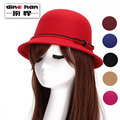 2016 new arrival round hat women autumn and winter bow hat lady British wool hat wholesale imitation B-1698