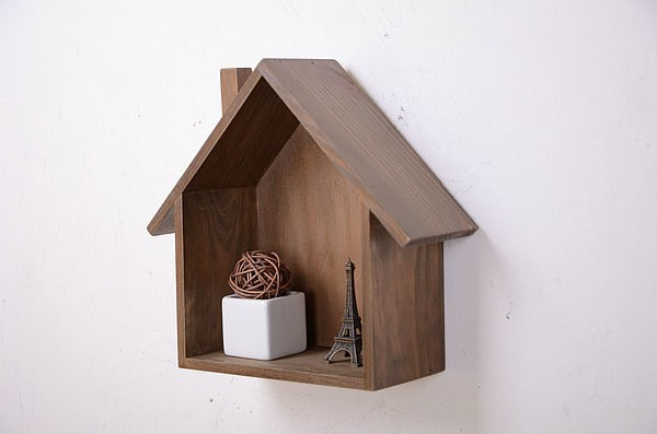 Zakka Wooden Box Bird House Model House Storage Box Home Decor