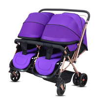 Baby Carriage Strollers For Twins Poussette Pliante Portable Twins Trolley Can Sitting Can Be Folded Two seat Newborn Stroller