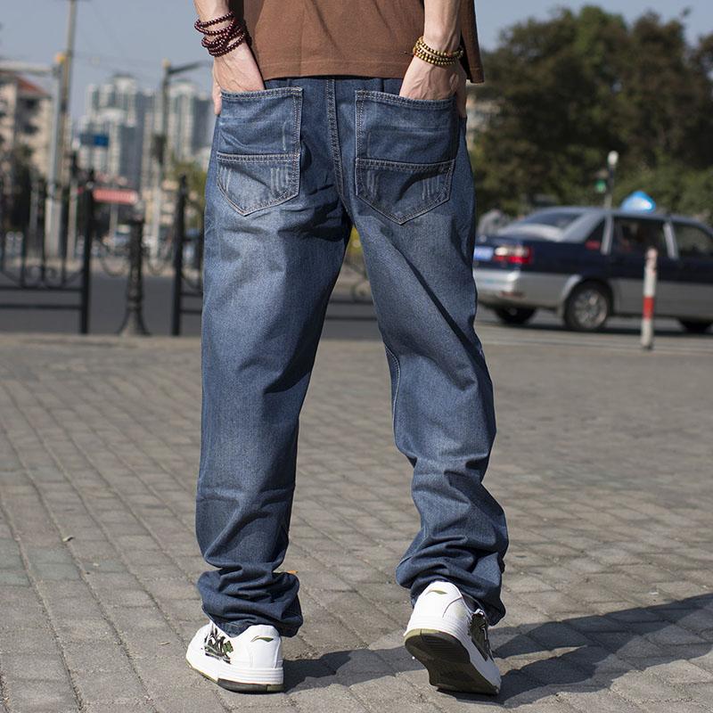 Man Hip Hop Baggy Jeans För Män Wide Leg Skateboard Byxor Brands - Herrkläder - Foto 2