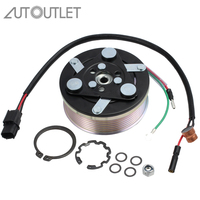 AUTOUTLET A/C Compressor Clutch Assembly Fit For Honda CIVIC 1.8L 2006 2011 Pulley With Electromagnetic Coil Front Plate Hub
