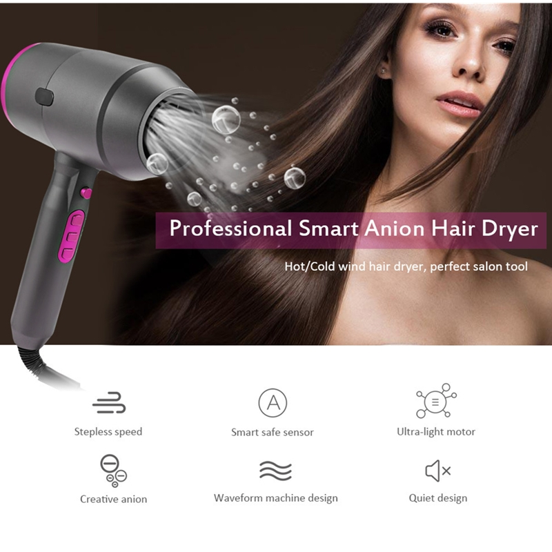 F150 Professional Anion Hair Dryer Powerful Household Hot / Cold Wind Smart Sensor And Auto Off And Quiet Design Hairstyle Tool f150 professional anion hair dryer powerful household hot cold wind smart sensor and auto off and quiet design hairstyle tool