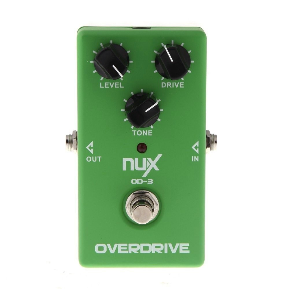 NUX OD-3 Overdrive Electric Guitar Effect Pedal True Bypass Warm Tube Natural Overdrive Sound Guitar Pedal with Aluminum Alloy aroma adr 3 dumbler amp simulator guitar effect pedal mini single pedals with true bypass aluminium alloy guitar accessories