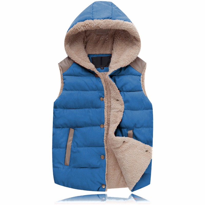 2016 Winter Vest Men Male Hooded Thick Warm Fleece Men\'S Vests Fashion Mens Vests Sleeveless Jacket Chaleco Hombre
