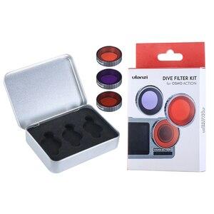 Image 5 - Ulanzi Tauchen Filter Kit für Dji Osmo Action Optische Glas Rot Lila Dive Swim Osmo Action Kamera Objektiv Filter Zubehör