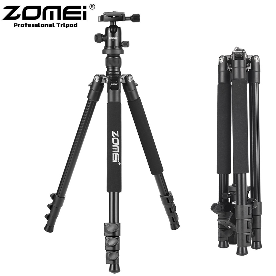 New Zomei Q555 Aluminum Professional Portable Tripod flexible with Ball Head For DSLR camera DSLR Camera stand Better than Q111 цена