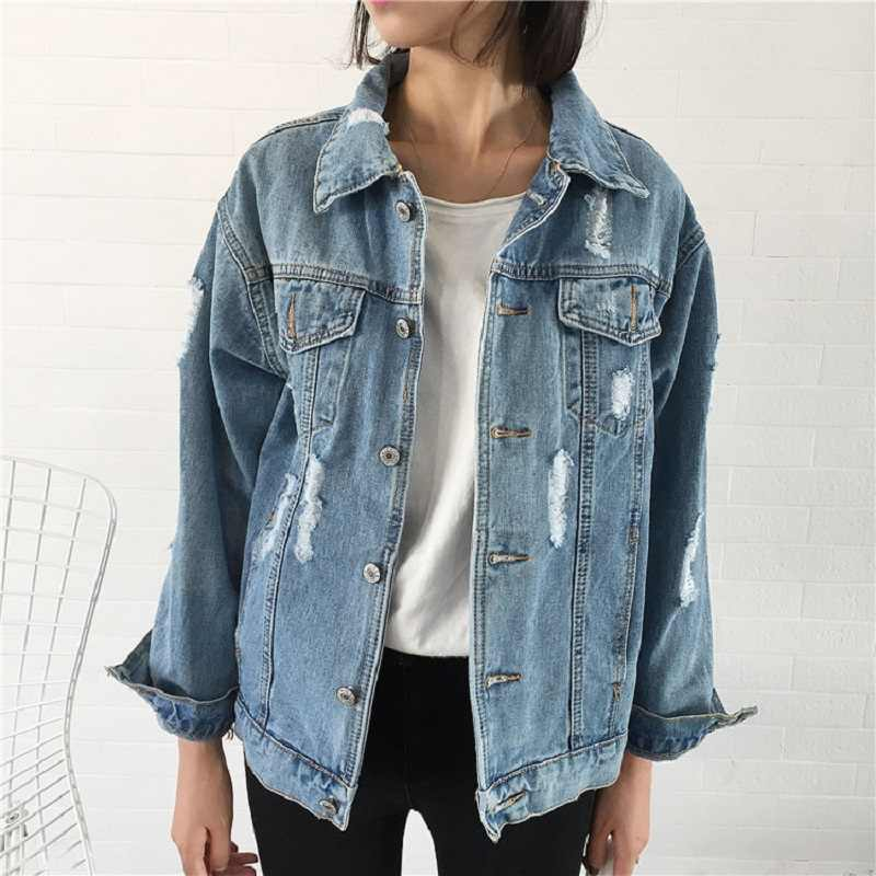 Frauen Grundlegende Mantel Denim Jacke Frauen Winter Denim Jacke Für Frauen Jeans Jacke Frauen Denim Mantel Dame Lose Fit Casual stil