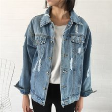 Frauen Grundlegende Mantel Denim Jacke Frauen Winter Denim Jacke Für Frauen Jeans Jacke Frauen Denim Mantel Dame Lose Fit Casual stil(China)