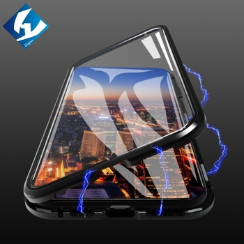 flip case For iphone Xs Max X XR Xs 8 7 6 6S plus tempered glass front and back cover metal frame protective magnetic coque iphone xr case magnetic