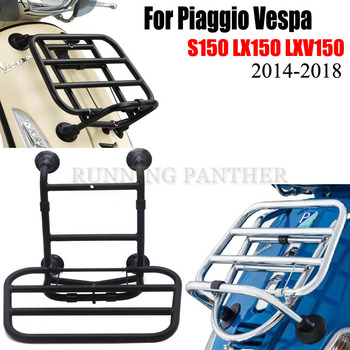 Motorcycle Front Luggage Rack Chrome/BLACK For Piaggio Vespa S150 LX150 LXV150 2014-2018