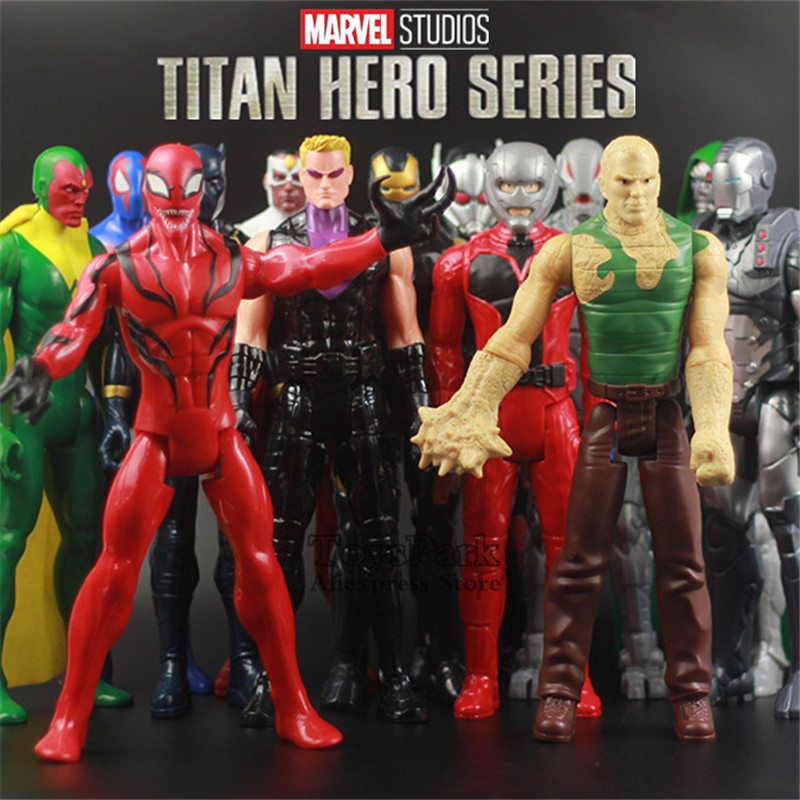 Original TITAN HERO Series 12 Marvel Spider Iron Man Vision Sand Falcon Hawkeye Ultron Ant Carnage Action FIgure Avengers Toys new arrival marvel avengers super hero spiderman spider man carnage action figure