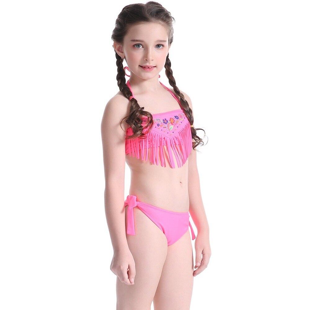 Intelligent Hot Toddler Girls Tassel Bikini Set Swimwear Swimsuit Bandeau Bikini Biquini Brazilian Bathing Suit Girls Swimwear Biquini Latest Technology Sports & Entertainment Swimming