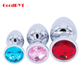 Stainless Steel Anal Plug Toys,3pcs Small Middle Big Plus Sizes Set Metal Butt Plug For Women Dildo Sex Products Dildo
