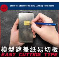 GALAXY Tools modelo de acero inoxidable hoja de enmascaramiento fácil de cortar tipo tabla Mat Hobby Craft Tool