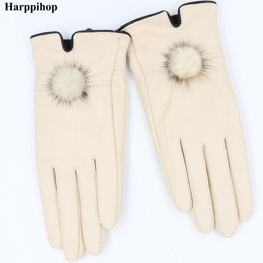 Genuine Leather Women's Gloves Thin Spri