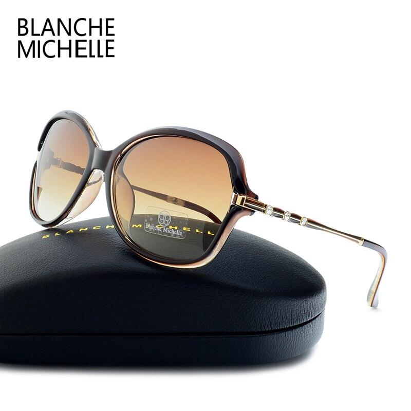 2018 neue Mode Sonnenbrille Frauen Polarisierte UV400 Gradienten Objektiv Sonnenbrille Für Frau Vintage lentes de sol mujer Mit Box