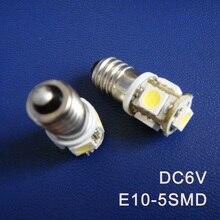 Высокое качество DC6.3V 6 V E10 Led Предупреждение сигнала индикаторная лампа пилот инструмент с лампой свет pinballs лампы, 5 шт. в партии