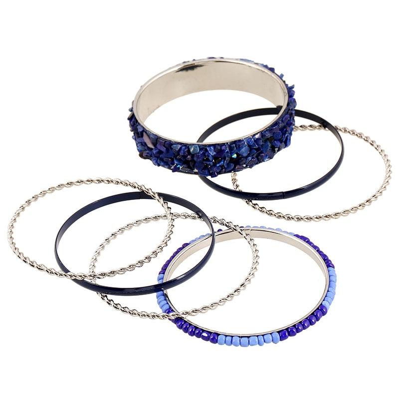 8e46772a2d95 Kuniu Venta caliente 1 Unidades brazalete moda pulsera grande rhinestone  decoración Negro Azul café color regalo de joyería para las mujeres