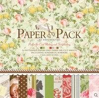 27sheets Pack 12 Inch Vintage Flower Life Decorative DIY Scrapbooking Background Paper Pack Set Origami Paper