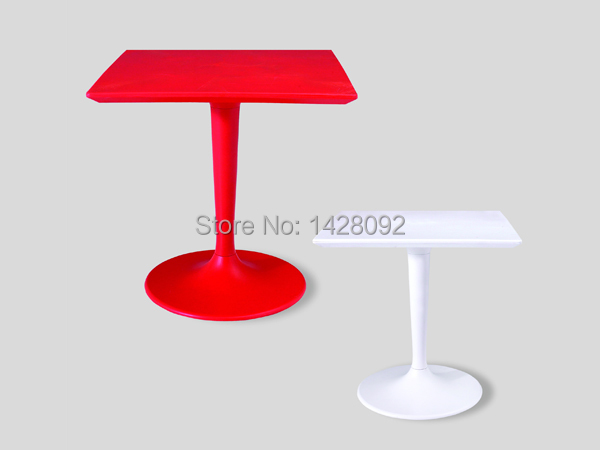 Fashion Modern Square ABS Top Painted Steel Base Bar Table LQ- C71