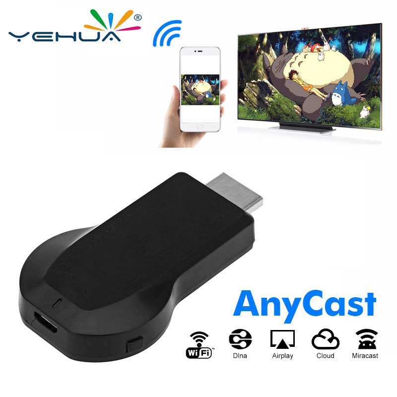 Anycast Tv Stick 2,4 Ghz Wireless 1080 P Full-hd High Speed Wifi Display Tv Dongle Unterstützung Miracast Airplay Dlna Für Apple Android