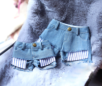 BJD doll shorts denim blue bind Layered jeans shorts for 1/3 1/4 BJD SD10 SD16 GIRl doll MSD MDD doll clothes accessories