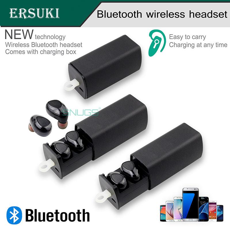 Ersuki Špičková kvalita bezdrátových Bluetooth sluchátek I7 Outdoor Sport Headsets Přenosná multifunkční sluchátka pro telefon PC