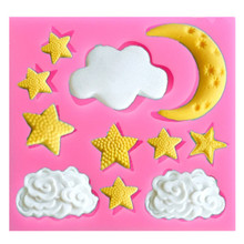 Cloud Star Moon Silicone Mold Birthday Chocolate Fondant Molds Sugarcraft Cake Molds Cake Decorating Tool Baking Accessories aya star chocolate cake molds for baking
