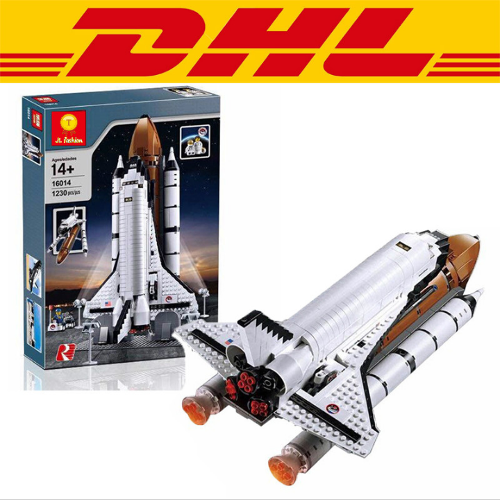 LEPIN 16014 1230Pcs Space Shuttle Expedition Model Building Kits figures Blocks Bricks toy for Children Compatible Technic 10231 lepin 16014 1230pcs space shuttle expedition model building kits set blocks bricks compatible with lego gift kid children toy