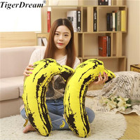 Soft Banana Air Conditioning Quilt Sleeping Pillows PP Cotton Stuffed Cushions Children's Room Decoration Fruit Toys
