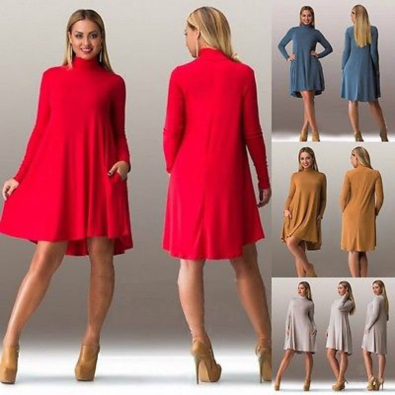 High Quality Red Turtleneck Dress-Buy Cheap Red Turtleneck Dress ...