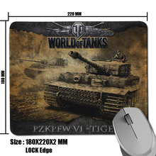 New Product Game World of Tanks Picture Cool Durable Non-Slip Computer Mouse Mat for Optical Gaming Mouse Pad