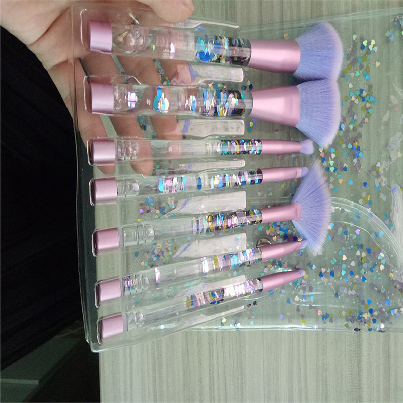 7pcs/Sets New Europe And The United States Selling Liquid Flash Makeup Brush Set Flow Flash Unicorn Makeup Brush Fantasy Mermaid 7pcs sets new europe and the united states selling liquid flash makeup brush set flow flash unicorn makeup brush fantasy mermaid