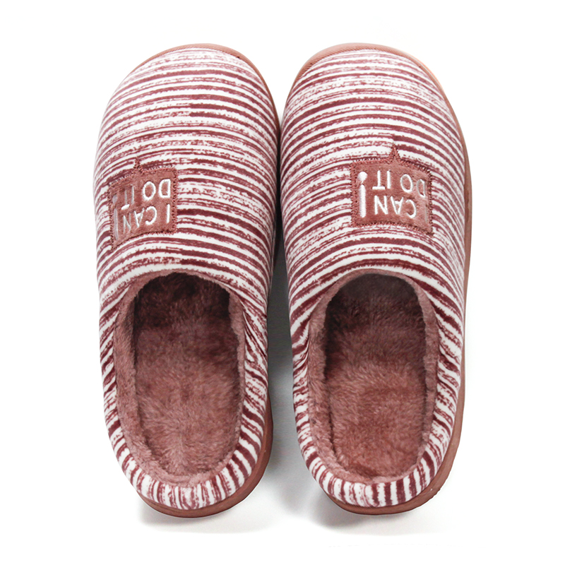 GieniG Women's Shoes Winter Warm Cotton Striped Soft Comfortable Non-slips Indoor House Slippers Men ruched detail shapewear slips