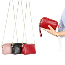 Genuine Leather Women Clutch Bag Ladies Chain Shoulder Bag Crossbody Bags For Women Small Phone Bags Girl Evening Party Handbags цена 2017