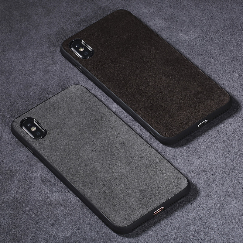 Caja del teléfono para Xiao mi 8 A1 A2 Lite mi x 2 S 3 Max 3 de cuero de gamuza suave TPU borde rojo mi nota 5 6 Pro 6A capa