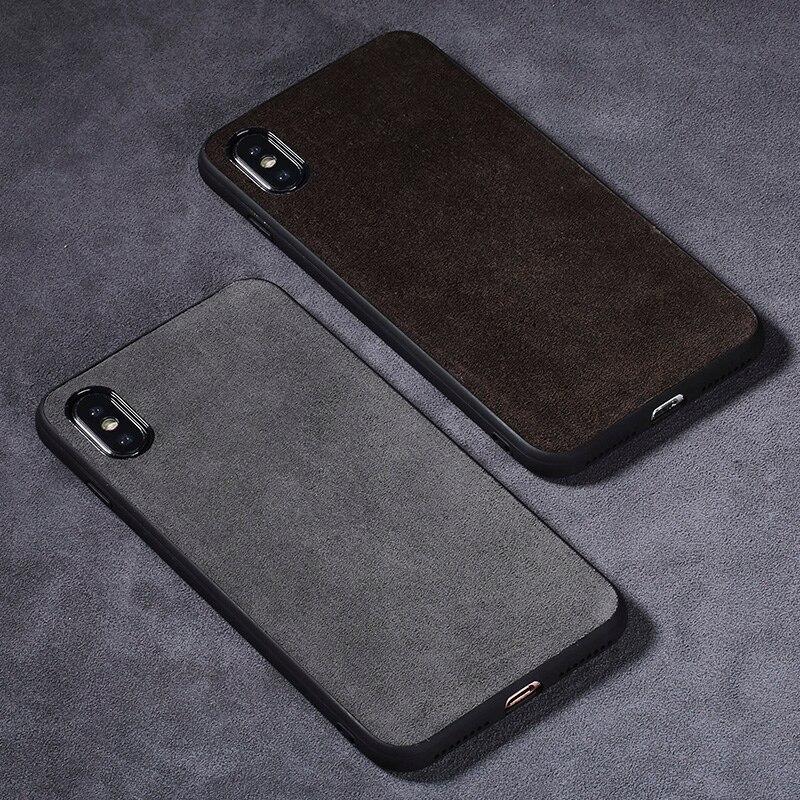 Phone Case For Xiaomi Mi 8 A1 A2 Lite Mix 2S 3 Max 3 Suede leather Soft TPU Edge Cover For Redmi Note 5 6 Pro 6A capa