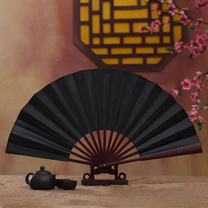 1PC Colourful DIY Chinese Style Hand Held Fan Blank Cloth Folding Fan Party Wedding Decoration Home Decor Handmade Ornaments