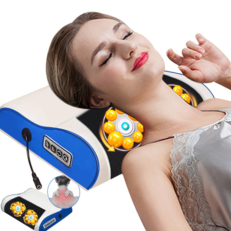Multifunctional Neck Massager Cervical Shiatsu Massage Back Waist Body Electric Kneading Pillow Cushion