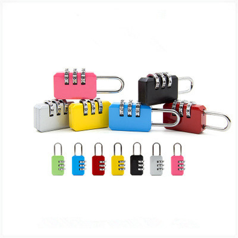 Resettable 3 Digit Combination Travel Luggage Suitcase Code Lock Padlock